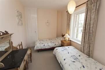 Smaller twin bedroom on first floor