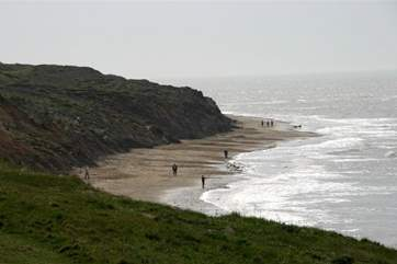 Compton Bay has something for all ages, you can hunt for fossils from the dinosaur era, or grab a wave on a board