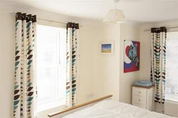 The double bedroom is light and airy