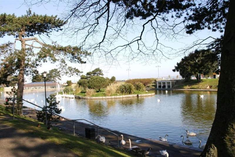 The duck lake is only a five minute walk from 6 Sandlands, from here you can walk along Appley towards Puckpool and Seaview