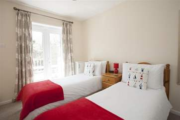 A good size twin room suitable for both children or adults