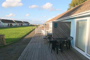 If you are reserving both 61 & 62 Salterns bungalow you will have plenty of space for outside meals