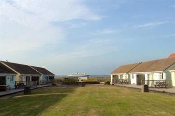 The communal space at Salterns Bungalows