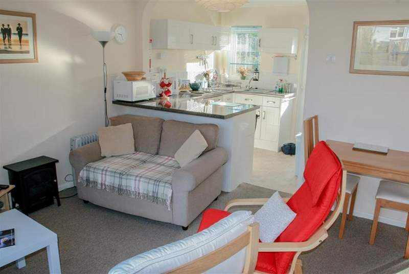 The open plan living, dining and kitchen-area