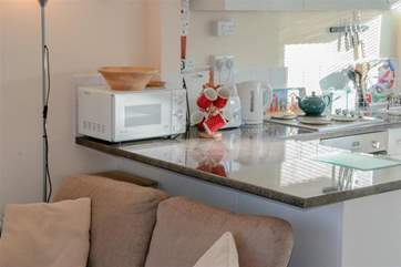 The kitchen is well equipped and modern