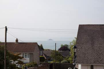 Watch the boats sail on by with glimpses of The Solent