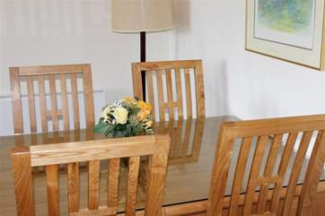 The dining-area is both modern and comfortable