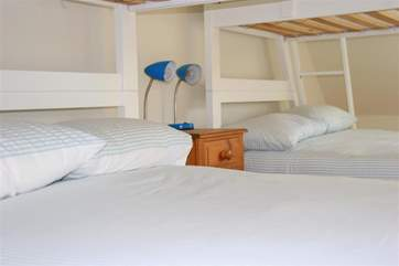 The lower bunks are double size beds for that extra space to spread out