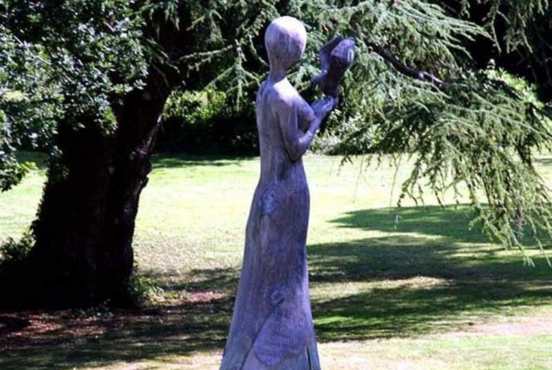 An interesting sculpture in the grounds