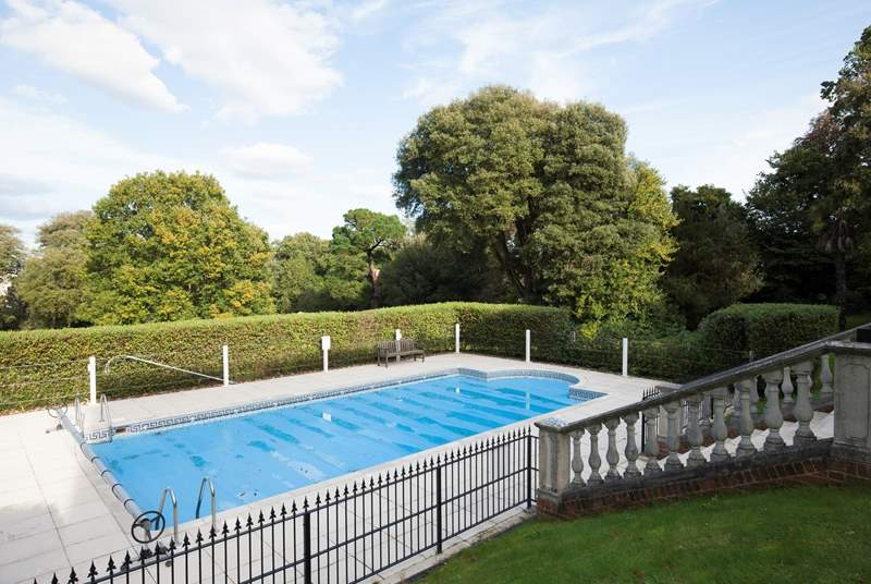 Springfield Court has a communal pool that is heated and open from May  to September