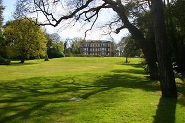The extensive grounds are gated and if you are lucky you may see plenty of birds and red squirrels hopping between trees
