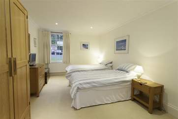 The twin bedroom is a lovely spacious room