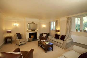 The living room is extremely spacious and a relaxing haven to curl up and unwind in.