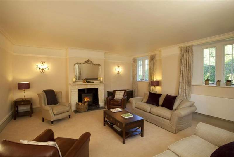 The sitting-room is extremely spacious and a relaxing haven to curl up and unwind in.