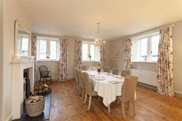 Light and cosy whilst being large, any meal in this dining area will be a success.