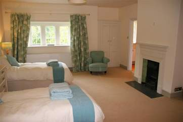 The beauty of the two twin bedrooms is that they can also be made up, on prior request, as king-size beds.