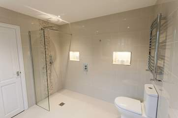 This ensuite wet room was recently refurbished to a very high standard with a fabulous walk in shower