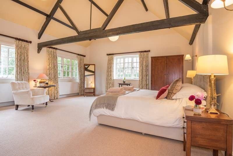 The Master bedroom is very spacious and beautifully furnished