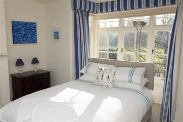 The double bedroom with views out to the front
