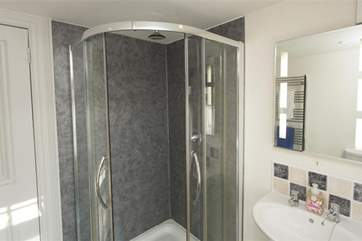 Bathroom with walk in shower cubicle