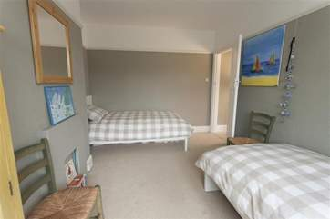 This twin bedroom is a lovely room for the children to stay in