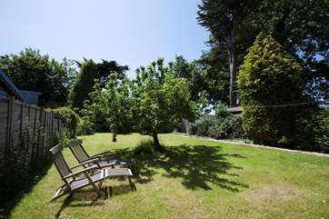 Take a seat on the sun lounger and relax in the sunshine