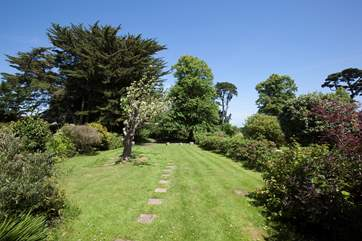 The beautiful garden is a great area for children to play and adults to relax in