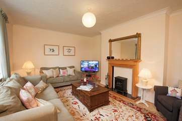 Retire to the delightful sitting-room for a glass of something cheeky and relax in front of the TV
