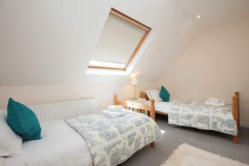 The twin bedroom is a pleasant room suitable for both adults or children alike