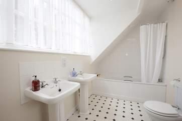 The en suite bathroom off the master bedroom