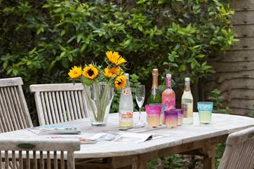 Grab a drink and take it outside to enjoy in the warm sunshine