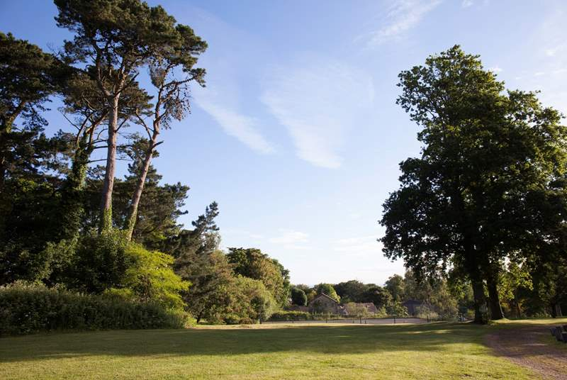 The extensive lovely grounds are perfect for tranquil walks and exploration