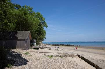 The beach has views across to portsmouth and the eastern Solent