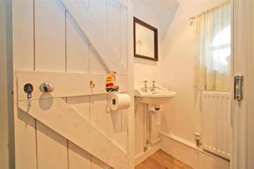 The downstairs cloakroom