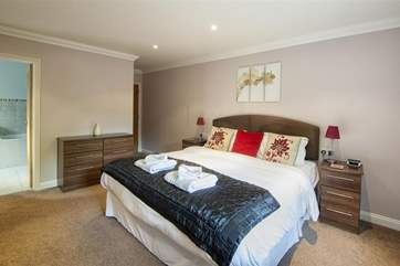 Beautiful and spacious master bedroom