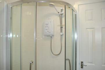 Shower room with electric shower