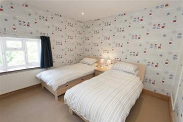 The twin bedroom is equally perfect for children or adults.