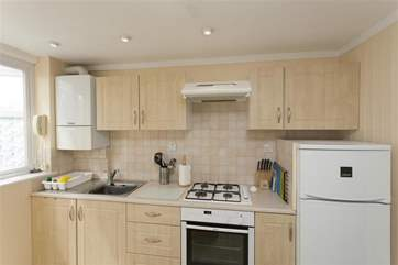 With a gas hob and electric oven, the kitchen is well equipped if you feel like cooking