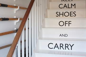 Keep calm, shoes off and carry on.