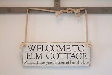 Welcome to Elm Cottage. Please, take your shoes off and relax.