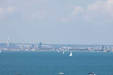 Watch the ships sail by and look across to Portsmouth with these lovely views.