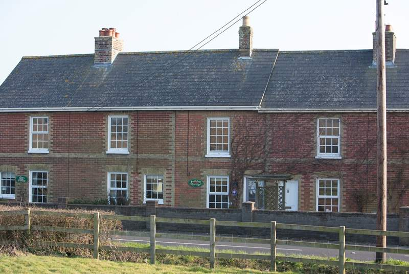The cottage is located on the main road into St Helens