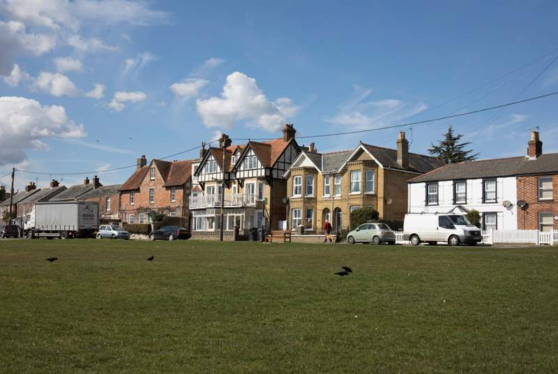 The nearby village green is a popular spot for children to play or enjoy a picnic