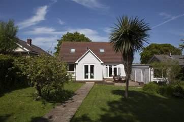 Rear garden at Garsdon