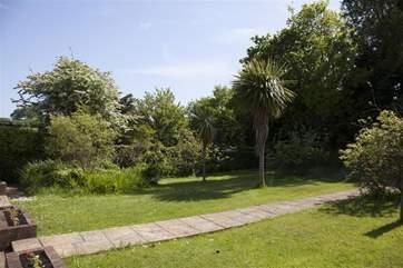 Lawned area, rear Garden