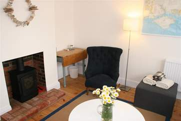 Wood Burner in living room, perfect for cosy evenings