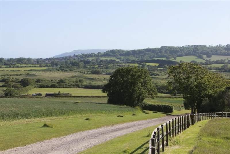 Views towards Brading & Sandown