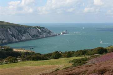 The famous Needles at Alum bay are within walking distance to the property