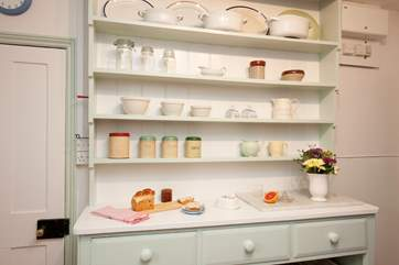 Period features add old-fashioned charm to the kitchen.