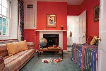 A second sitting room is the ideal spot for chidlren to play and read.